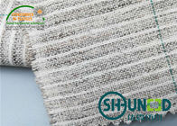 Smooth Green Strip Fusible  woven Elastic Hair Interlining For Jacket and chest interlining
