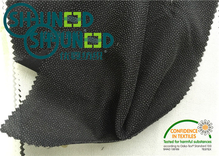 Black Plain Weave fusable Interfacing , Fabric 50gsm woven fusing