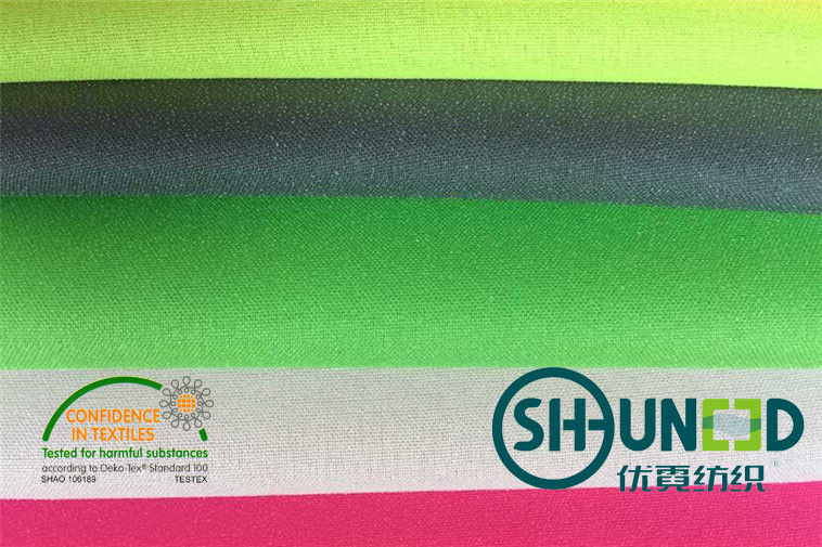 100% Polyester Plain Weave Fusible Woven Interlining For Lady ' s Thin Fabric