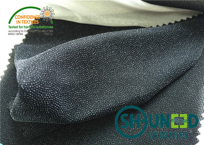 40 ℃ Washing And Dry Cleaning Woven Fusing Fabrics Double Dot C7522Q