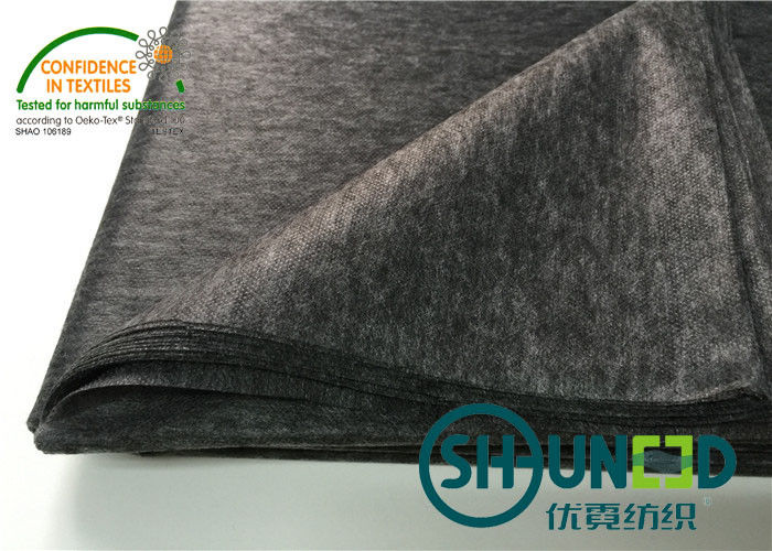 Adhensive non woven fusible interfacing , Black Garment Fusible Interlining fabric
