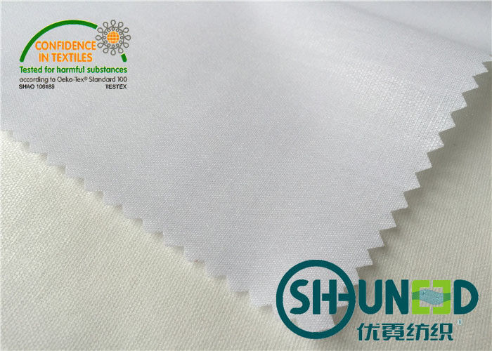 White Cotton Interlining with Hard Handfeeling , interfacing material