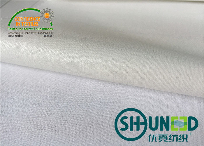 White Heavy Weight Interfacing , Men And Women's Interlining Cloth