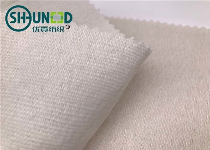 Eco - Friendly Soft Woven Interlining Fabric / Wool Interlining Fabric For Bag