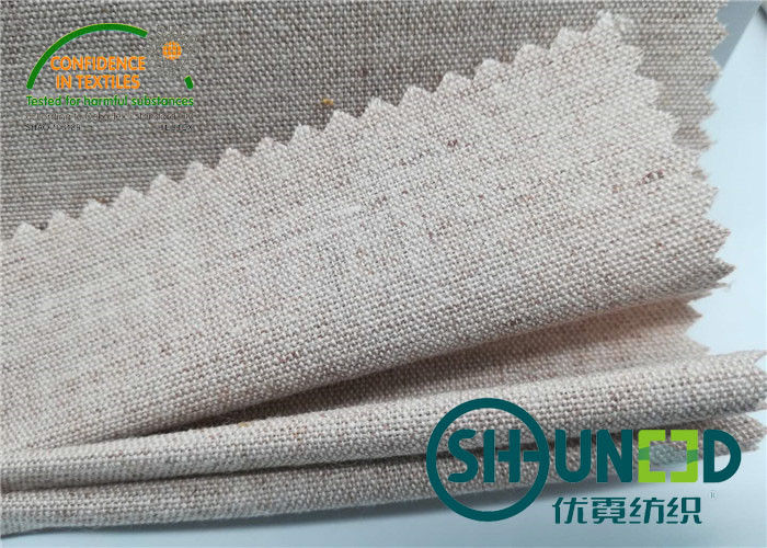Chest Canvas Horse Hair Interlining With Good Elasticity Woven Technology