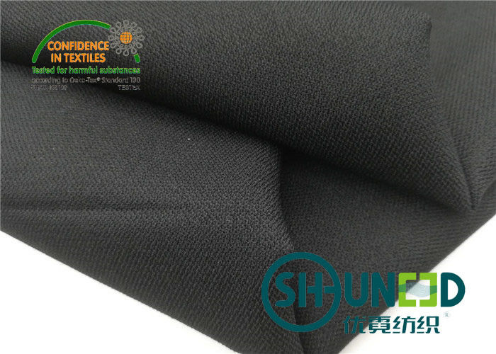 100% Polyester Fusible Twill Woven Interlining Fabric With Double Dot