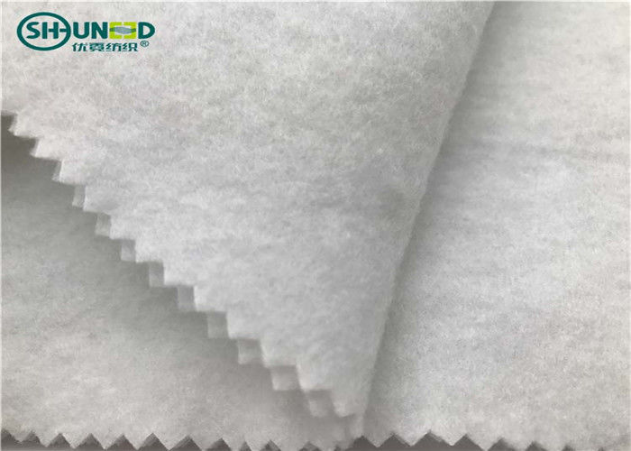 100% Polyester Felt Fabric / Insulation Needle Punched Geotextile For Garment