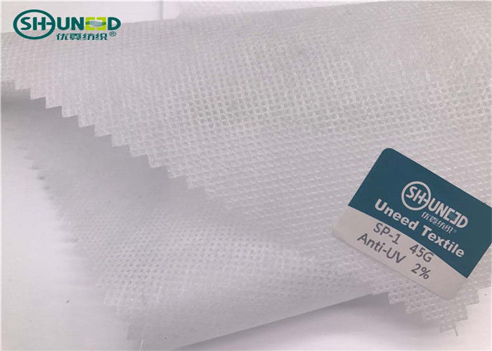 2% Anti - UV PP Spunbond Non Woven Fabric Roll For Textiles / Shopping Bags