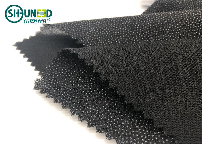 Double Dot Fusible Interlining Fabric For Business Casual Suit Eco Friendly