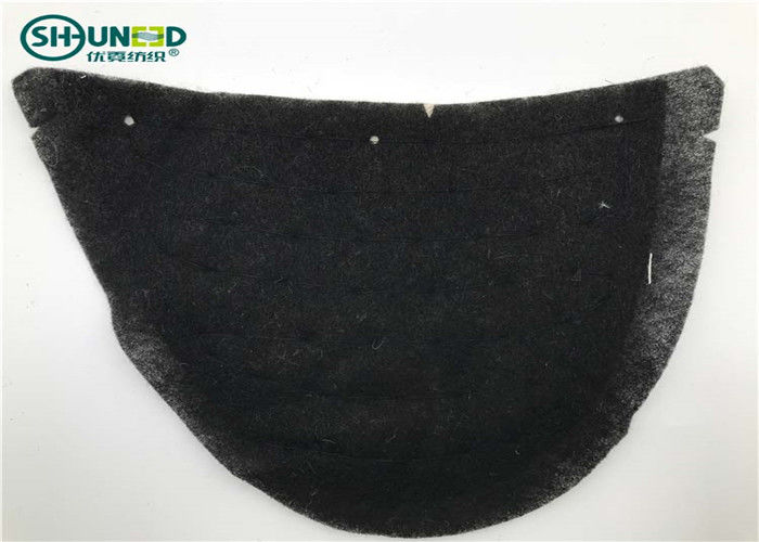 Cotton Canvas Sewing Womens Shoulder Pads Eco - Friendly Black Color