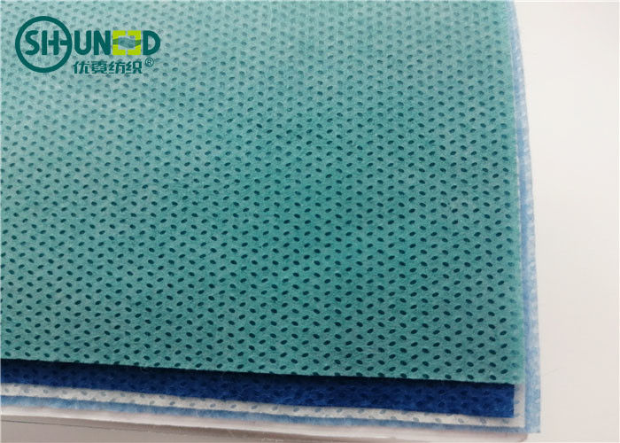 Anti Static PP Spunbond Non Woven Fabric 35gsm 10cm - 320cm Width For Surgical Gown