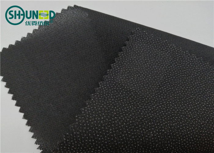 Eco Friendly Drill Fusing Woven Interlining Broken Twill Weave For Garment