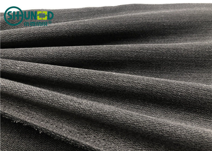 Viscose Polyester Water Jet Woven Interlining Super Soft Hand Feelining PA Coating