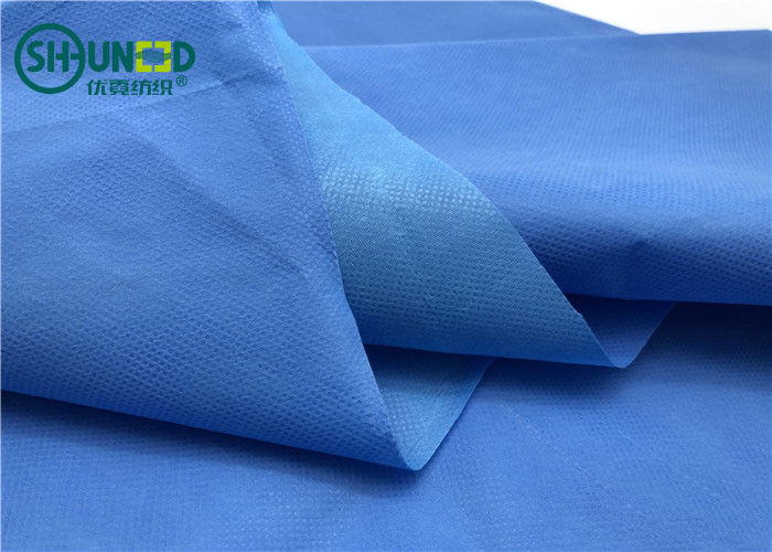 Three Layers Blue Hydrophilic Fabric / Film Shrink Resistant Eco - Friendly