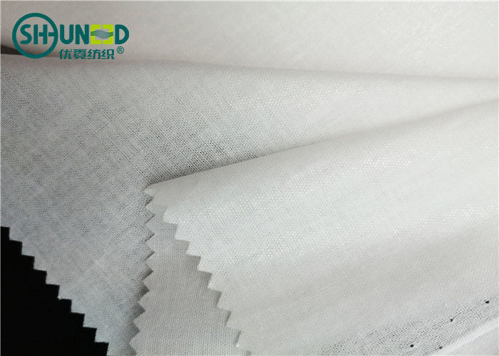 Formal Shirt Interlining Woven Fusible 110gsm Lining Soft Hand Feeling