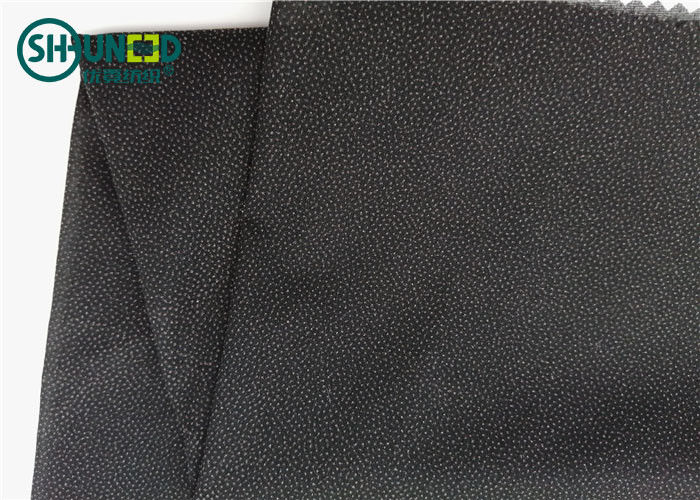 Chiffon Suit Coating Plain Woven Interlining Textile Double Side 30D * 30D