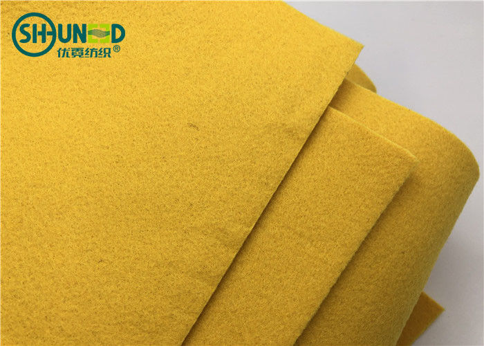3mm Thick Yellow Color Polyester Needle Punch Nonwoven Sound Insulation