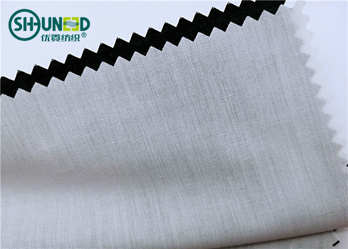 Plain Pattern Garments Accessories Polyester / Cotton Pocketing Fabric Rolls