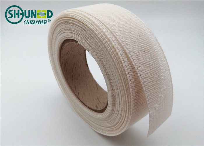 Nylon Cotton Resin Fusible Interlining Tape Roll For Flattening Suits / Shirts