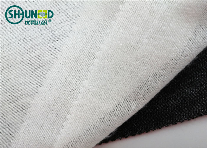 50% Polyester 50% Viscose Woven Fusible Interlining Brushed 90cm 150cm For Suits / Overcoat