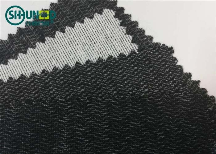 Polyester Viscose 60gsm Brushed Woven Interlining Weft Insert Interlining Shrink Resistant