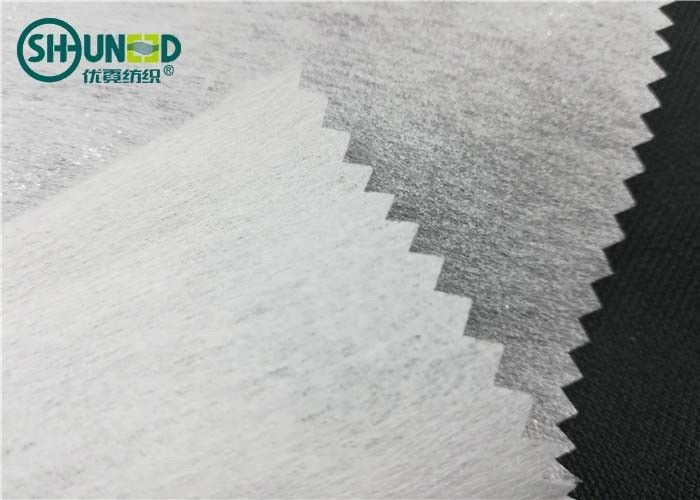LDPE coating 1025H chemical bond fusible nonwoven interlining for garment embroidery backing use